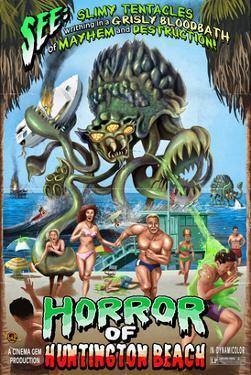 Huntington Beach, California - Alien Attack Horror by Lantern Press