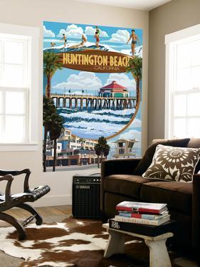 Huntington Beach, California - Montage Scenes by Lantern Press