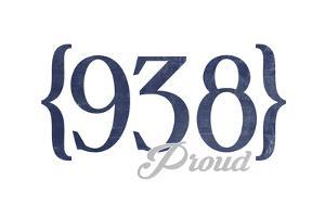 Huntsville, Alabama - 938 Area Code (Blue) by Lantern Press