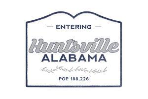 Huntsville, Alabama - Now Entering (Blue) by Lantern Press