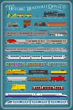 Huntsville, Alabama - Railways of History Infographic by Lantern Press