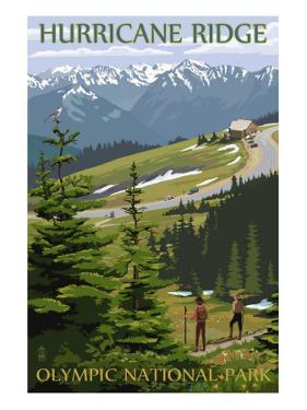 Hurricane Ridge, Olympic National Park, Washington by Lantern Press