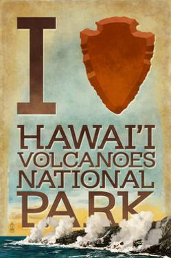 I Heart Hawaii Volcanoes National Park by Lantern Press