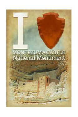 I Heart Montezuma Castle National Monument, Arizona by Lantern Press