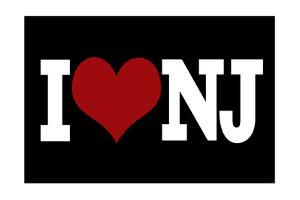 I Heart New Jersey - Black by Lantern Press