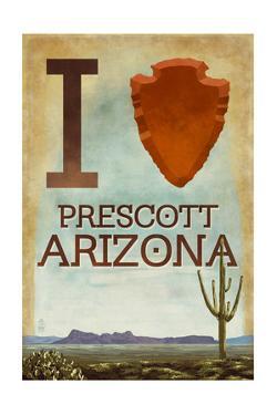 I heart Prescott Arizona by Lantern Press