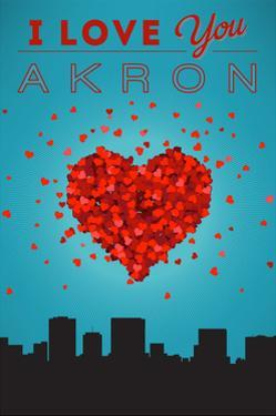 I Love You Akron, Ohio by Lantern Press