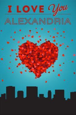 I Love You Alexandria, Virginia by Lantern Press
