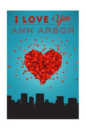 I Love You Ann Arbor, Michigan by Lantern Press