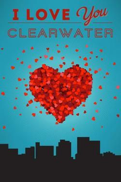 I Love You Clearwater, Florida by Lantern Press