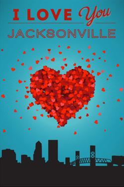 I Love You Jacksonville, Florida by Lantern Press