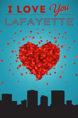 I Love You Lafayette, Louisiana by Lantern Press