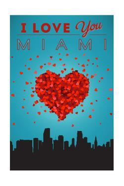 I Love You Miami, Florida by Lantern Press