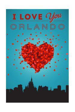 I Love You Orlando, Florida by Lantern Press