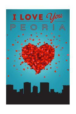 I Love You Peoria, Illinois by Lantern Press