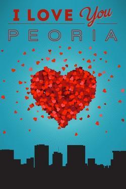I Love You Peoria, Illinois by Lantern Press