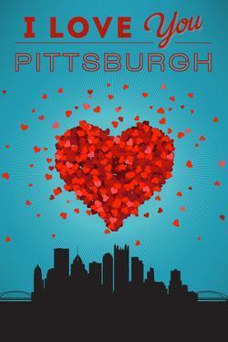 I Love You Pittsburgh, Pennsylvania by Lantern Press