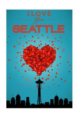 I Love You Seattle, Washington by Lantern Press