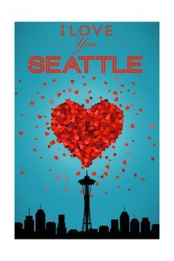 I Love You Seattle, Washington by Lantern Press