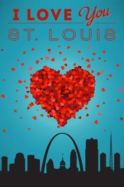 I Love You St. Louis, Missouri by Lantern Press