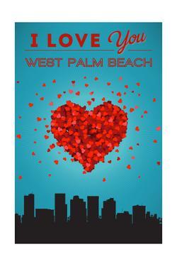 I Love You West Palm Beach, Florida by Lantern Press