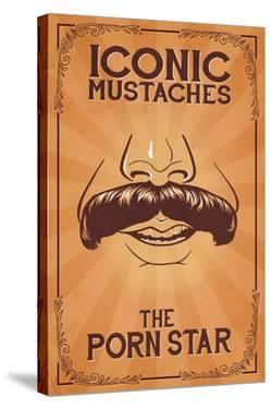 Iconic Mustaches - Porn Star by Lantern Press