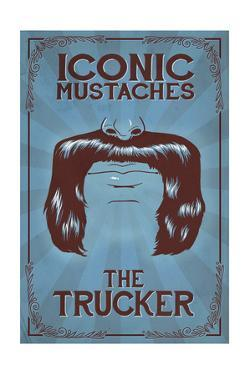 Iconic Mustaches - Trucker by Lantern Press