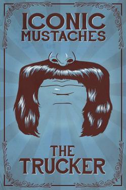 Iconic Mustaches - Trucker by Lantern Press