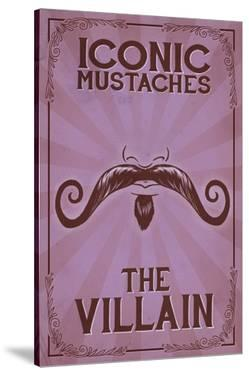 Iconic Mustaches - Villian by Lantern Press