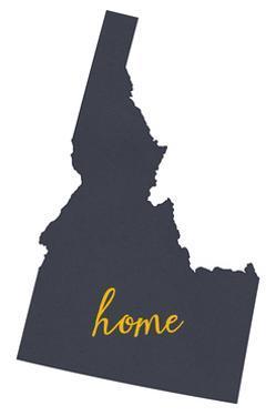 Idaho - Home State- Gray on White by Lantern Press