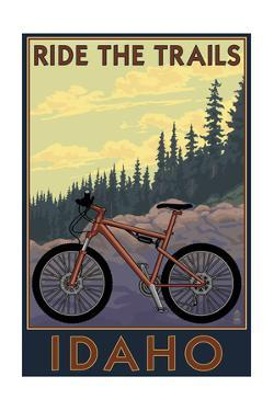 Idaho - Mountain Bike Scene by Lantern Press
