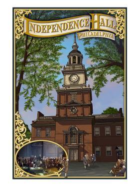 Independence Hall - Philadelphia, Pennsylvania by Lantern Press