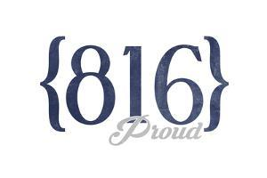Independence, Missouri - 816 Area Code (Blue) by Lantern Press