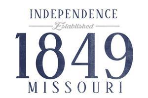 Independence, Missouri - Established Date (Blue) by Lantern Press