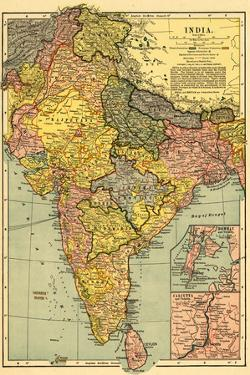 India - Panoramic Map by Lantern Press