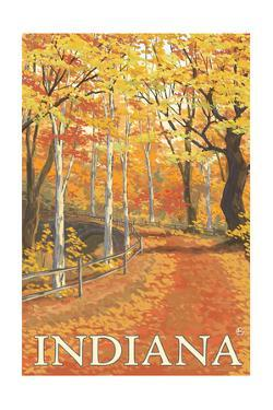 Indiana - Fall Colors by Lantern Press
