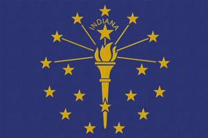 Indiana State Flag by Lantern Press