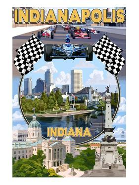 Indianapolis, Indiana - Montage Scenes by Lantern Press