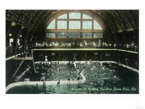 Interior View of the Bathing Pavilion - Santa Cruz, CA by Lantern Press