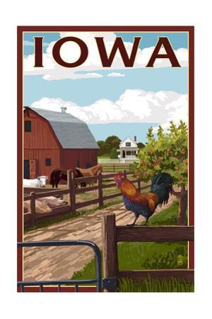 Iowa - Barnyard Scene