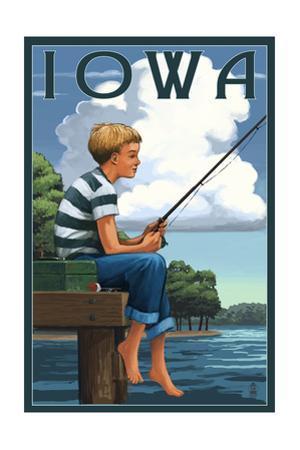 Iowa - Boy Fishing