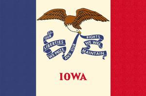 Iowa State Flag by Lantern Press
