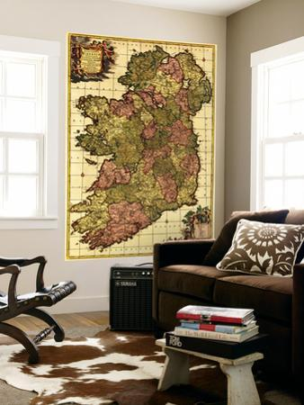 Ireland - Panoramic Map by Lantern Press