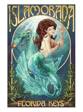 Islamorada, Florida Keys - Mermaid by Lantern Press