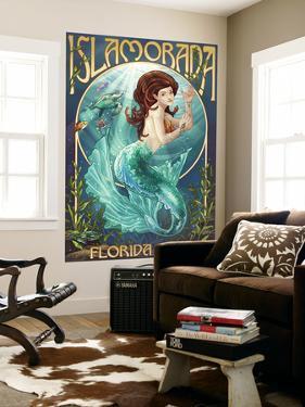Islamorada, Florida Keys - Mermaid by Lantern Press