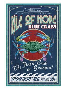 Isle of Hope, Georgia - Blue Crabs by Lantern Press
