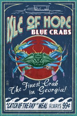Isle of Hope, Georgia - Blue Crabs by Lantern Press