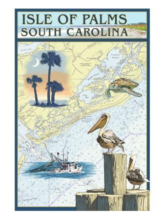 Isle of Palms, South Carolina - Nautical Chart