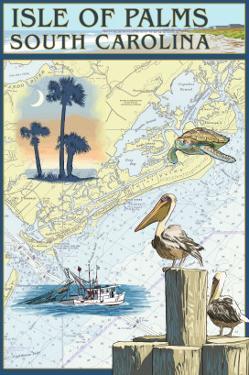 Isle of Palms, South Carolina - Nautical Chart by Lantern Press