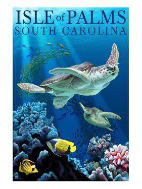 Isle of Palms, South Carolina - Sea Turtles by Lantern Press